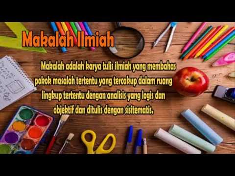 makalah ilmiah dalam  bahasa indonesia