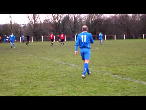 Droitwich forward Lemon sees a delivery deflected just wide by a Glades defender