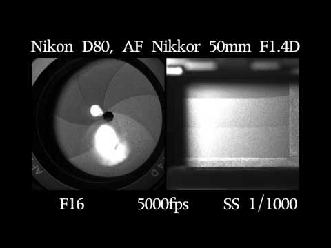 Nikon D80 slow motion of shutter and aperture