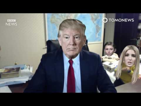 Donald Trump's family crashes 'BBC Dad' viral interview - TomoNews