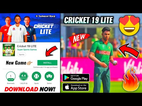 Cricket 19 LITE Game Download On Android | HD Realistic Graphics | Emulator & Game Link | Hindi