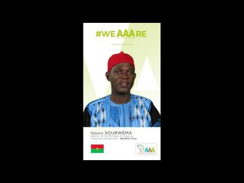 Issaka SOURWEMA, Chargé de Missions au Ministère du Commerce soutient l'initiative AAA