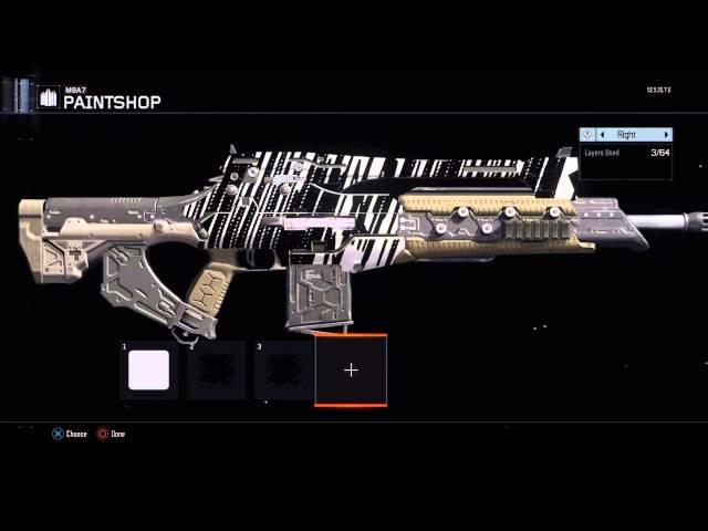COD| Blackops 3 how to make a costum paint job ZEBRA (M8A7) and trickshot