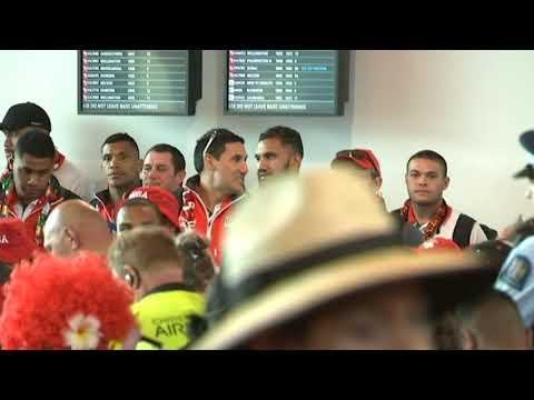 Tongan fans serenade World Cup heroes with beautiful song at Christchurch airport