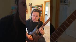 """Bach """"Invention 4 in D minor"""", electric guitar practice"""