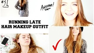 10 MINUTE HAIR, MAKEUP & OUTFIT For School