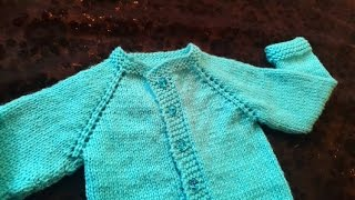 Cardigan Baby Sweater (1 Year Baby) in Urdu/Hindi by Azra Salim