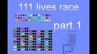 111 LIVES CHALLENGE MARBLE RACE PART 1 SEASON 1 | GewoonKoen