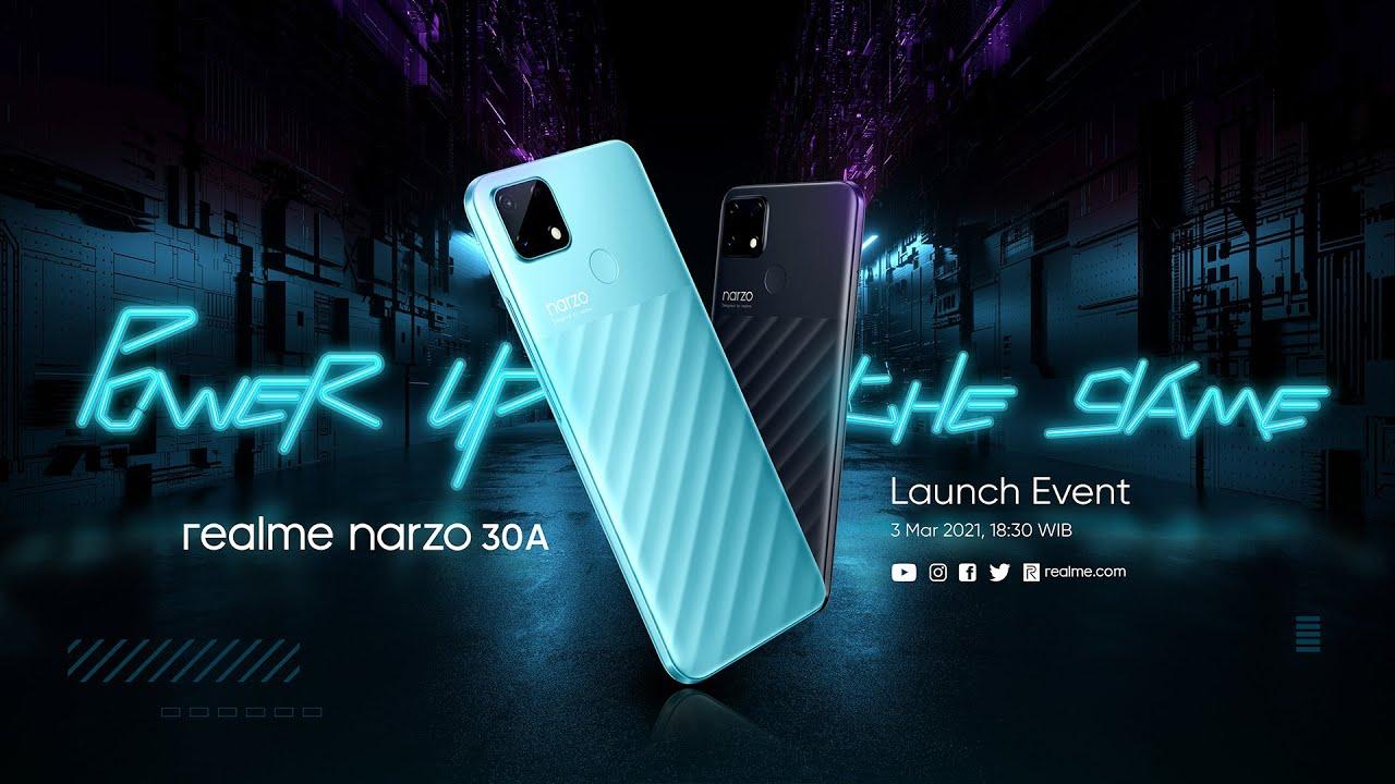 Launching Smartphone Gaming Paling Powerful di Kelasnya, realme #narzo30A #PowerUpTheGame