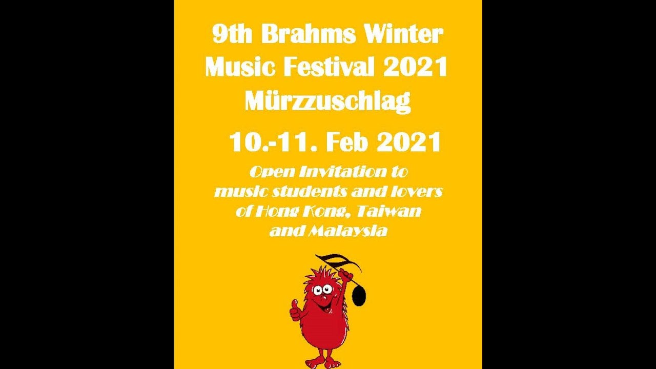 9th Brahms Winter Music Festival 2021 (Open invitation)