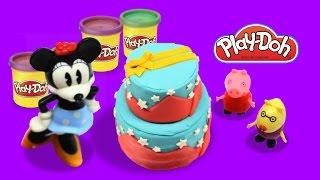 Play Doh Peppa Pig Cake| Peppa's Christmas Dough Set| Play Doh Peppa Pig Christmas Cake Dough