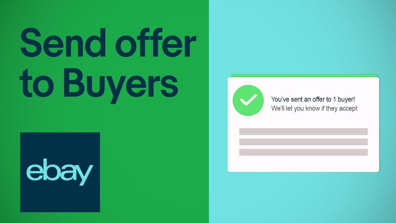 Send An Offer To Buyers On Ebay Seller Hub Ebay For Business Uk Youtube
