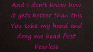 Fearless- Taylor Swift(lyrics)