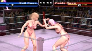 PCSX2 PS2 Rumble Roses Normal Match(Evil Rose) Game Play Part01 - 플스2 럼블 로즈 일반 매치 게임 플레이