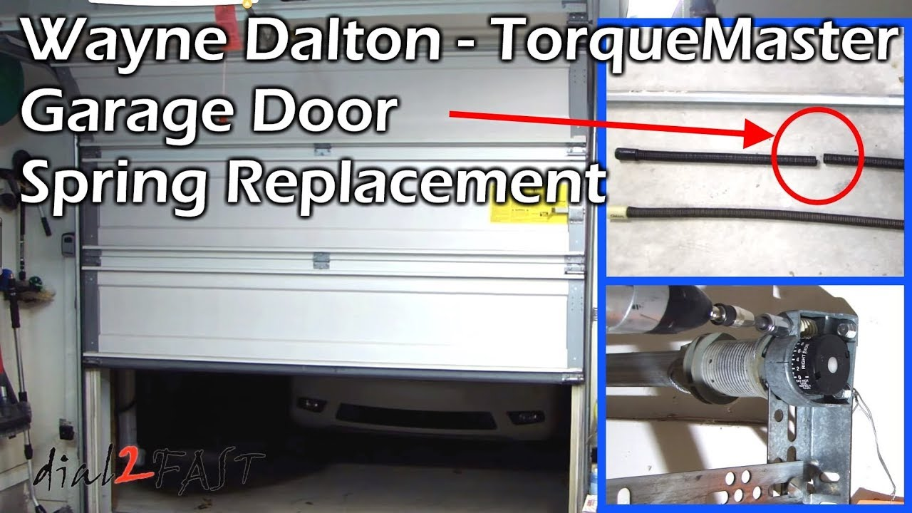 Wayne Dalton Torquemaster Garage Door Spring Replacement Youtube