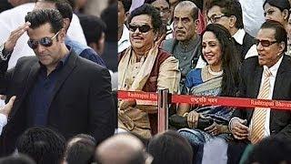 Narendra Modi's Oath Taking Ceremony   Salman Khan, Vivek Oberoi, Hema Malini, Salim Khan
