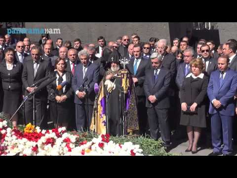 Президент Армении Серж Саргсян возложил цветы к мемориалу памяти жертв Геноцида армян