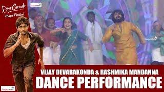 Vijay Deverakonda Rashmika Dance Performance | Dear Comrade Music Festival | Shreyas Media |