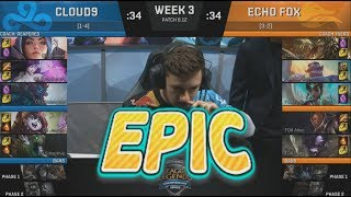 [EPIC] C9 (Licorice Irelia) VS FOX (Altec Lucian) Highlights - 2018 NA LCS Summer W3D2