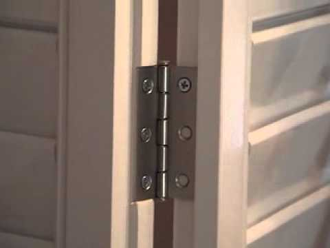 Attaching Bi-Fold hinges - YouTube