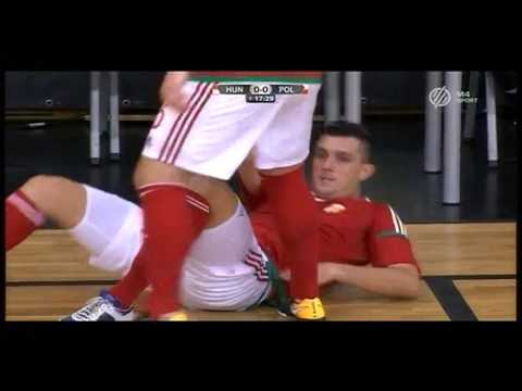 Hungary - Poland 2:1 (Futsal EURO play-off. I. game)