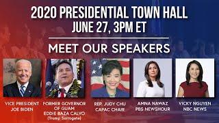 Live: APIA 2020 Virtual Presidential Town Hall   NBC News