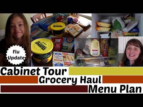 EXTRA GROCERIES Cabinet Tour, $36 Haul ,Menu Plan, and Flu Update