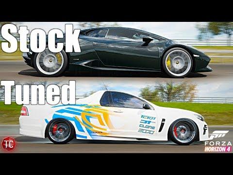Forza Horizon 4: Stock Vs Tuned! Lamborghini Huracan Vs Holden HSV Ute!