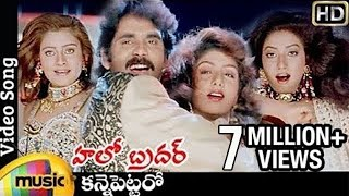 Hello Brother Telugu Movie Songs | Kanne Pettaro Video Song | Nagarjuna | Amani | Rambha | Indraja