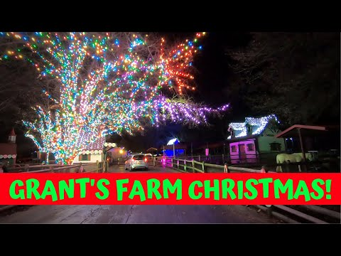 Grants Farm Holiday Fun Drive-Thru in St. Louis, Missouri