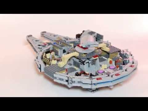 Lego super smooth build of Millenium Falcon 75105 (stop motion review)