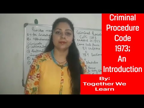 Criminal Procedure Code 1973 || An Introduction || in Hindi