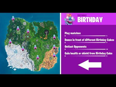 All 10 Fortnite Birthday Cake Locations | Fortnite 2nd Birthday Event | Fortnite Battle Royale Guide