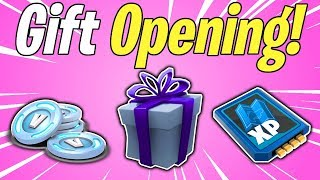 NEW GIFT BOX OPENING! Free Gifts With Patch 6.30 | Fortnite Save The World