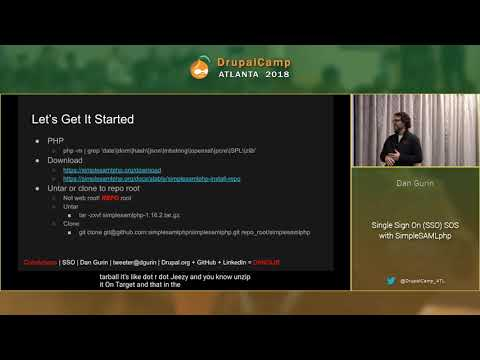 DCATL 2018 - Single Sign On SSO SOS with SimpleSAMLphp - Dan Gurin on YouTube