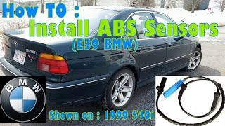 How TO: Install ABS Wheel Speed Sensor on E39 BMW ( 1999 540i)