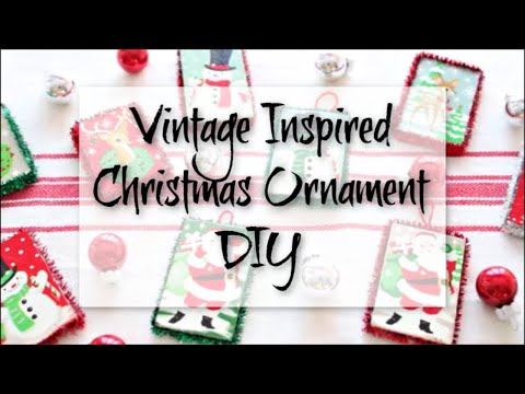 Vintage Inspired Christmas Ornament DIY | Vintage Inspired Ornament | DIY Christmas Ornament