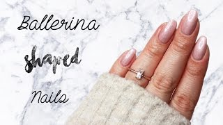 How to Ballerina/ Coffin Shape | Natural Nails ♡