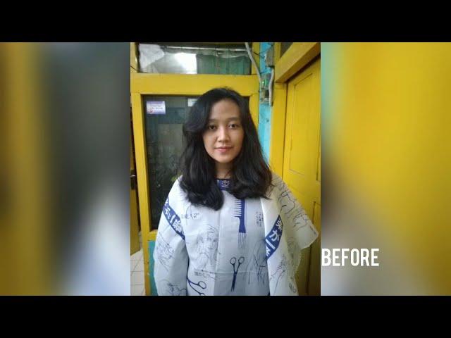 Anisa Potong Rambut Bob Undercut ( Girl Bob Undercut )
