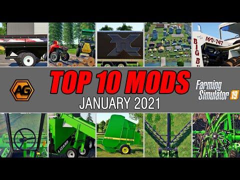 Top 10 Modhub Mods January 2021 - Farming Simulator 19