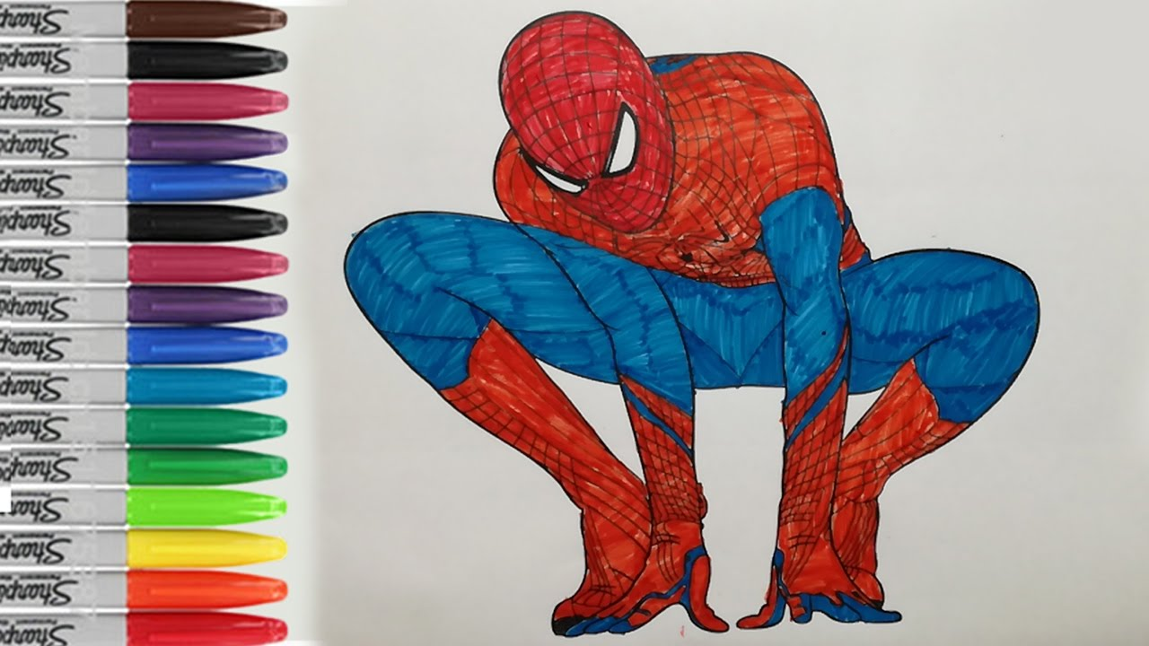 The Amazing Spiderman Coloring Pages Spiderman Fun Pages Sailany Coloring Kids Youtube