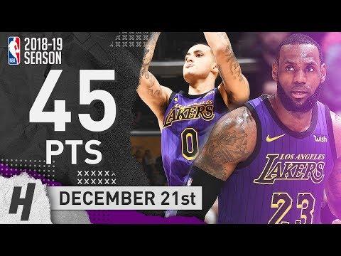 LeBron James Triple-Double & Kyle Kuzma vs Pelicans! EPIC Highlights 2018.12.21 - 45 Pts Total