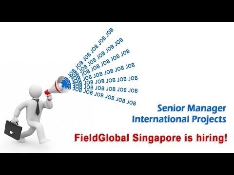 Senior Manager International Projects - Singapore