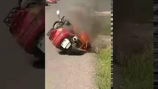 Загорання скутера у Виноградові - Голос Карпат