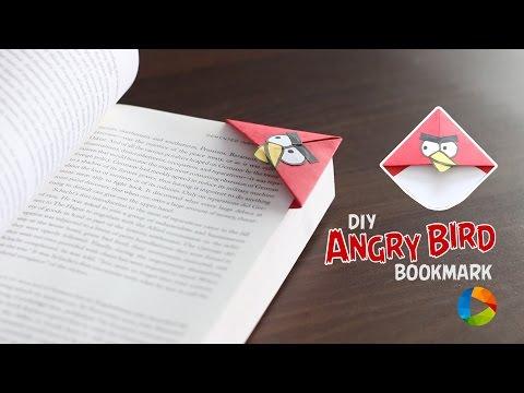 DIY: Angry Bird Bookmark