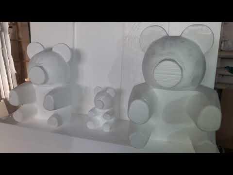 Мишки из роз. Формы из пенопласта, для обклеивания мишек розами