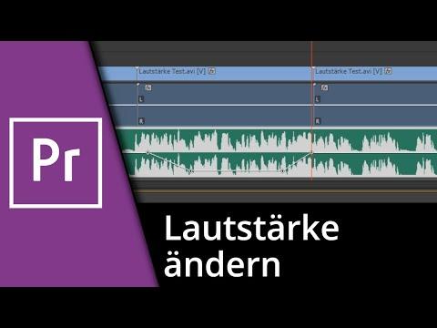 Adobe Premiere Tutorial   Lautstärke ändern / 2 Läutstärken in einer Tonspur [Deutsch/HD]