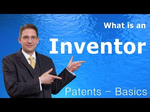 What is an Inventor - Patents: Basics #rolfclaessen