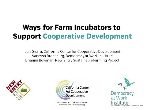 NIFTI Webinar 17: Ways for Farm Incubators to Support Co-op Development