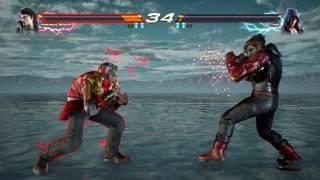 Tekken 7 (PS4) Dragunov Vs Jin Gameplay - INFINITE AZURE Stage [1080P 60FPS] Full Game Build